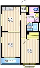 エクラージュ3階Fの間取り画像