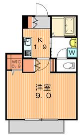 ボヌール駒沢2階Fの間取り画像