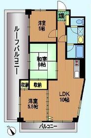 稲城駅 徒歩6分3階Fの間取り画像