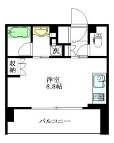 アトラス中野南台3階Fの間取り画像