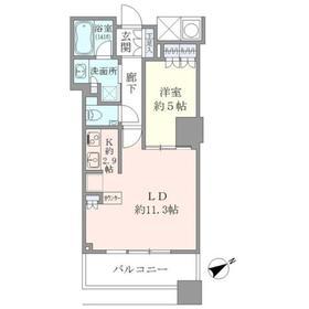 ザ・パークハウス西新宿タワー6029階Fの間取り画像