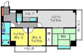 武蔵中原駅 徒歩5分6階Fの間取り画像