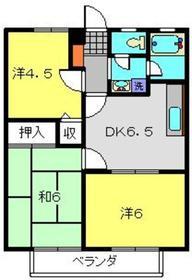 林ハイツA棟2階Fの間取り画像