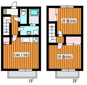 レグルス2階Fの間取り画像