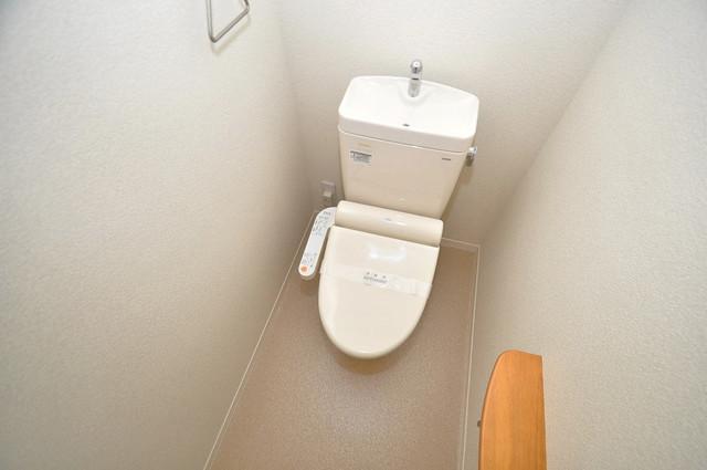 シャーメゾン友井 清潔感のある爽やかなトイレ。誰もがリラックスできる空間です。