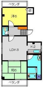 イトケン3階Fの間取り画像