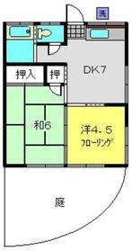 前山アパート1階Fの間取り画像