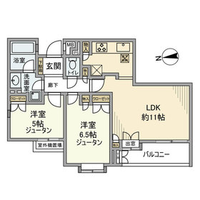 コートハウス世田谷・砧2階Fの間取り画像
