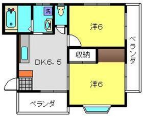 シャンス東寺尾中台233階Fの間取り画像