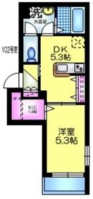 la maison luana ラメゾンルアナ1階Fの間取り画像