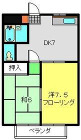 ビューハイム・コヤナギ・岡村2階Fの間取り画像