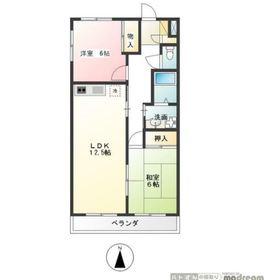 エステート柿の木Ⅱ3階Fの間取り画像