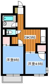 地下鉄成増駅 徒歩8分2階Fの間取り画像