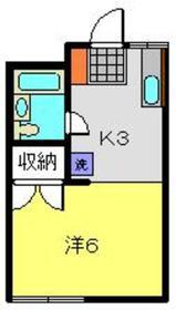 ラフォーレモトヤマ1階Fの間取り画像