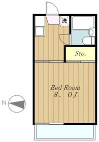 荒川ハイツ2階Fの間取り画像