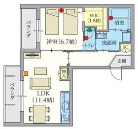 へーベルVillage西永福・グランテラス浜田山2階Fの間取り画像