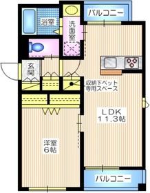 仮称 笹下2丁目メゾン2階Fの間取り画像