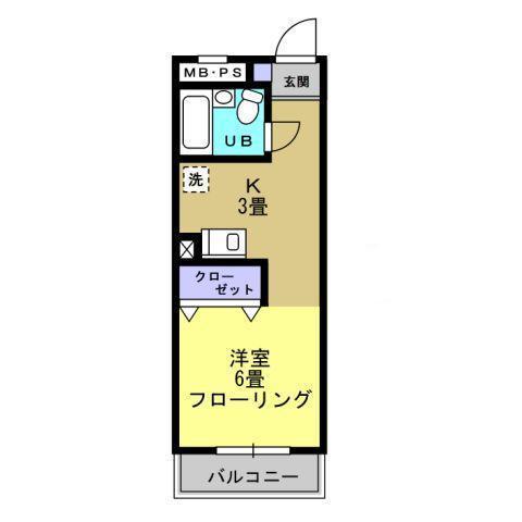 洋室6帖 キッチン3帖
