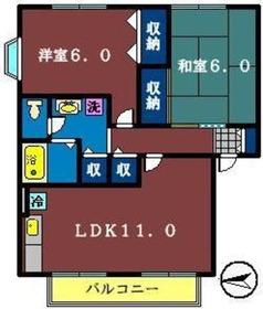 ウェルカム塚田 B1階Fの間取り画像
