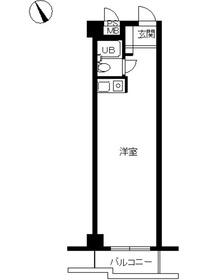 スカイコート市ヶ谷1階Fの間取り画像
