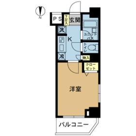 スカイコート錦糸町第21階Fの間取り画像