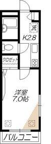 プラネットハウス2階Fの間取り画像