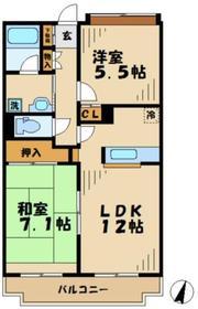 ユーフォリア松木1階Fの間取り画像