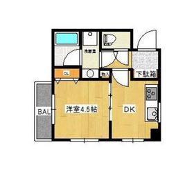 ポートハイム第七吉野町3階Fの間取り画像