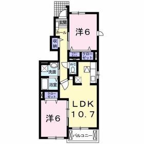 昭島駅 徒歩16分1階Fの間取り画像