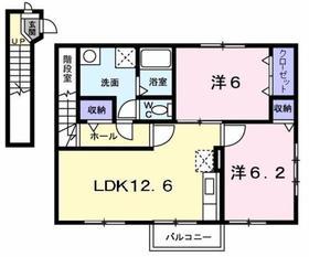 サンクレスト2階Fの間取り画像