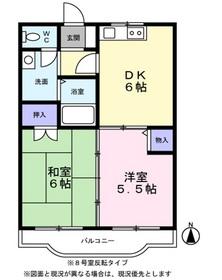 ブルーカーサ250-Ⅱ1階Fの間取り画像