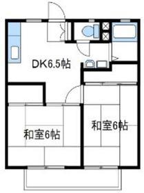 清山荘2階Fの間取り画像