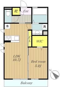 トレゾア1階Fの間取り画像