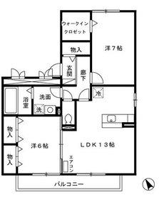 高座渋谷駅 車13分5.9キロ2階Fの間取り画像