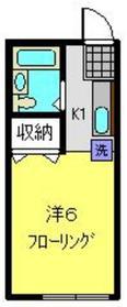 コーポ谷田貝1階Fの間取り画像