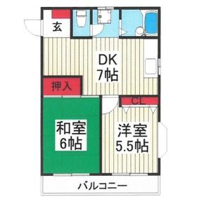 メゾン新座4階Fの間取り画像