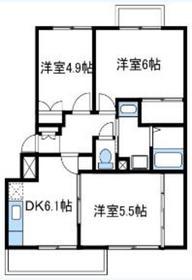 フルールジャルダン3階Fの間取り画像