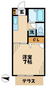 厚木駅 車22分6.8キロ2階Fの間取り画像
