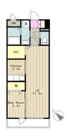 メゾンノーブル3階Fの間取り画像