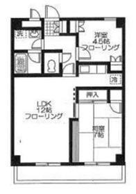 鎧橋ビル8階Fの間取り画像
