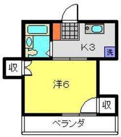 日吉第一QSハイム4階Fの間取り画像