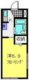 和田町駅 徒歩24分1階Fの間取り画像