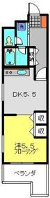 パークコート六ッ川台2階Fの間取り画像