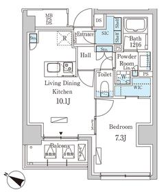 パークアクシス赤坂山王13階Fの間取り画像