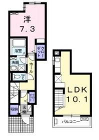 ホヌシャルマン1-2階Fの間取り画像