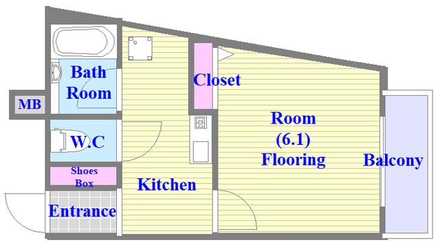 ヴィラサンライフ 各部屋がゆったりとした単身さんにちょうどいい間取り。