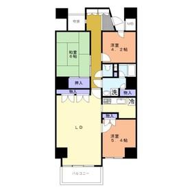 東武みずほ台サンライトマンションもみの木10階Fの間取り画像