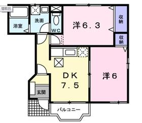プリマベーラK1階Fの間取り画像