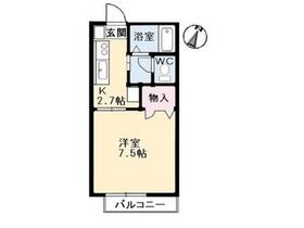 サンライズ212階Fの間取り画像