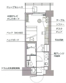 レックスガーデン神楽坂北町8階Fの間取り画像